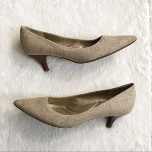 Bandolino Shoes - Bandolino   'Zazie' Tan Textured Pointed Toe Heels